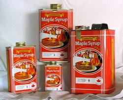Maple Syrup in Tins