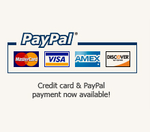 PayPal and credit Card payment methods now available!